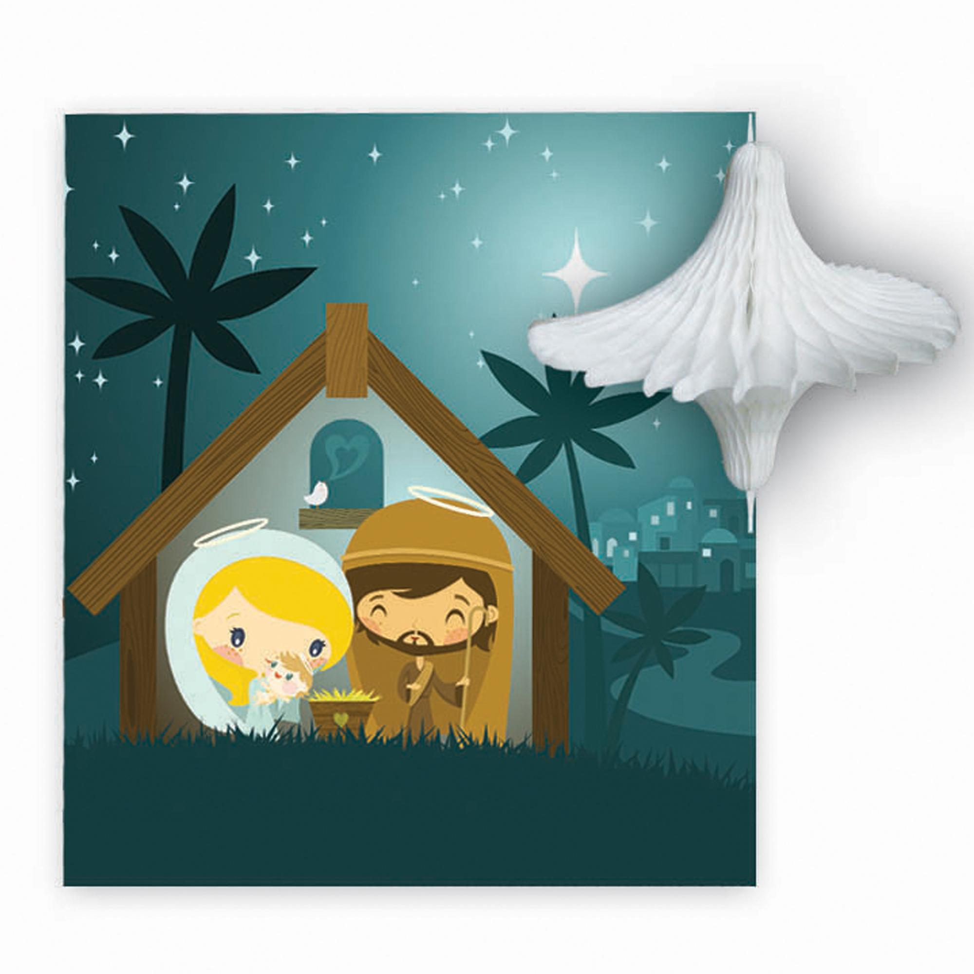 Pulp Pop Up Nativity Christmas Card Cancer Research Uk