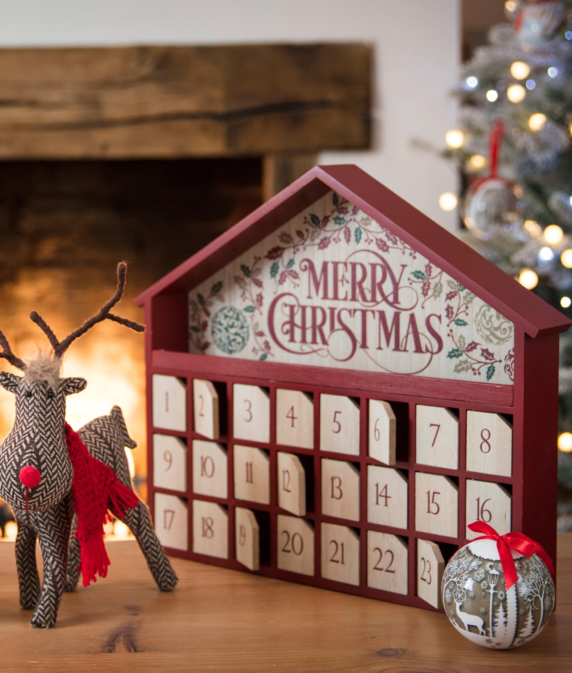 Christmas Advent House.Traditional Advent House Cancer Research Uk Online Shop