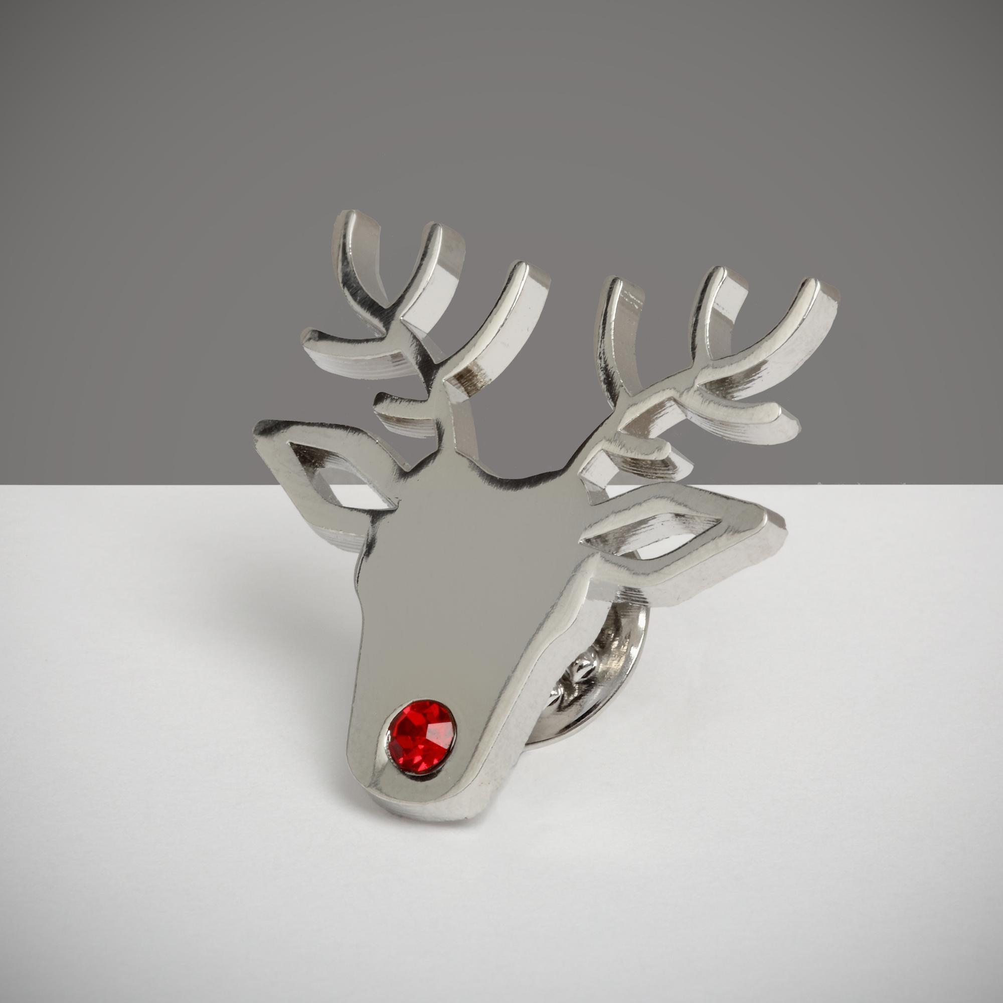 reindeer pin badge cancer research uk online shop