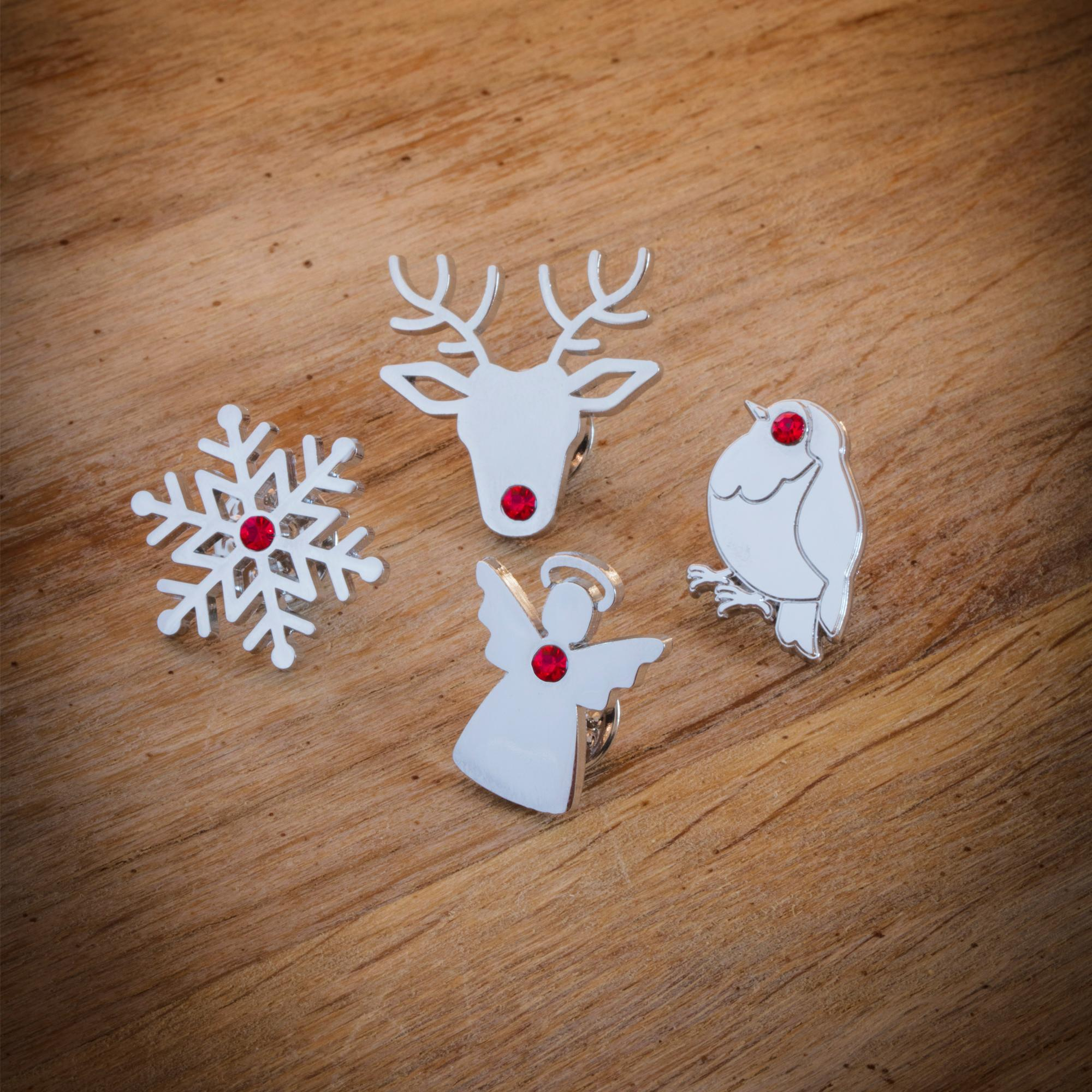 Christmas Pin Badge Set Cancer Research Uk Online Shop