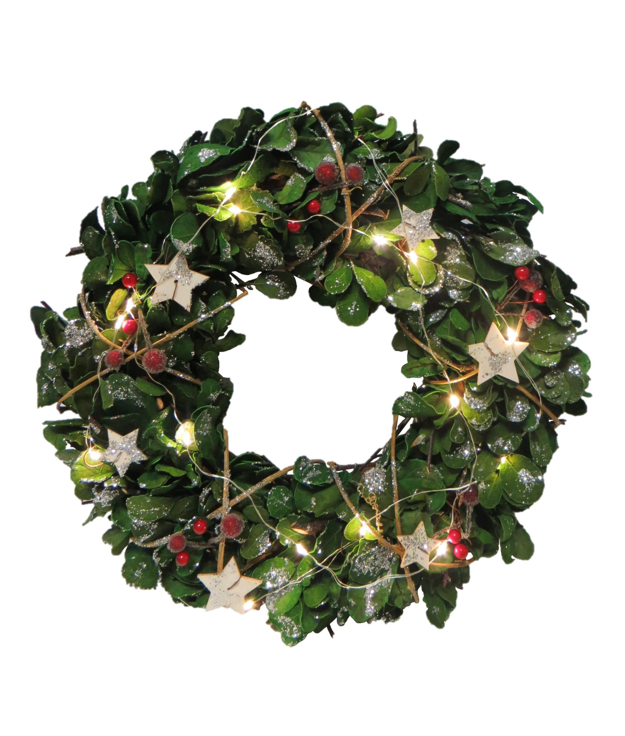 Led Lit Eucalyptus Christmas Wreath Cancer Research Uk Online Shop