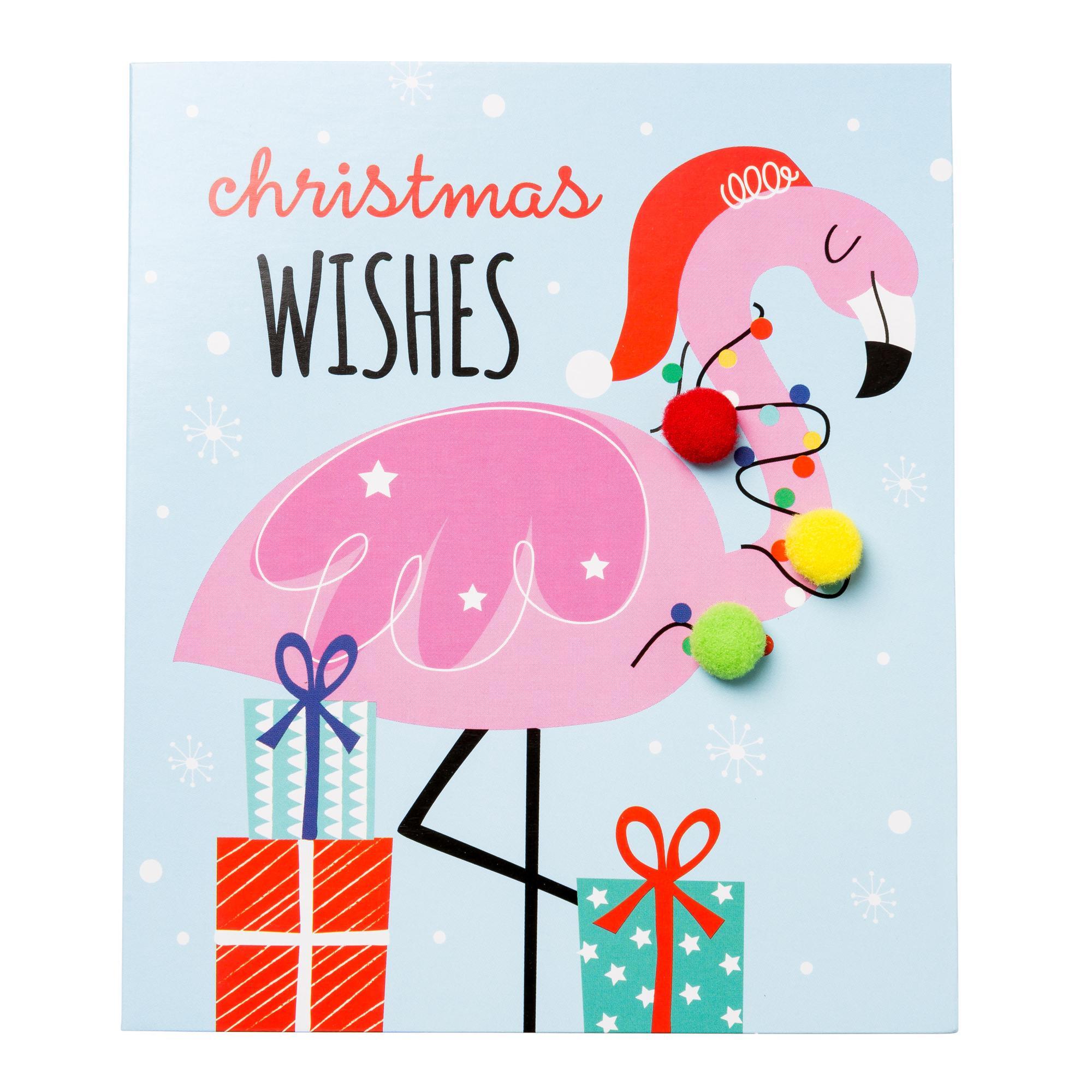 Flamingo Christmas Cards.Festive Flamingo Christmas Cards Pack Of 6 Cancer