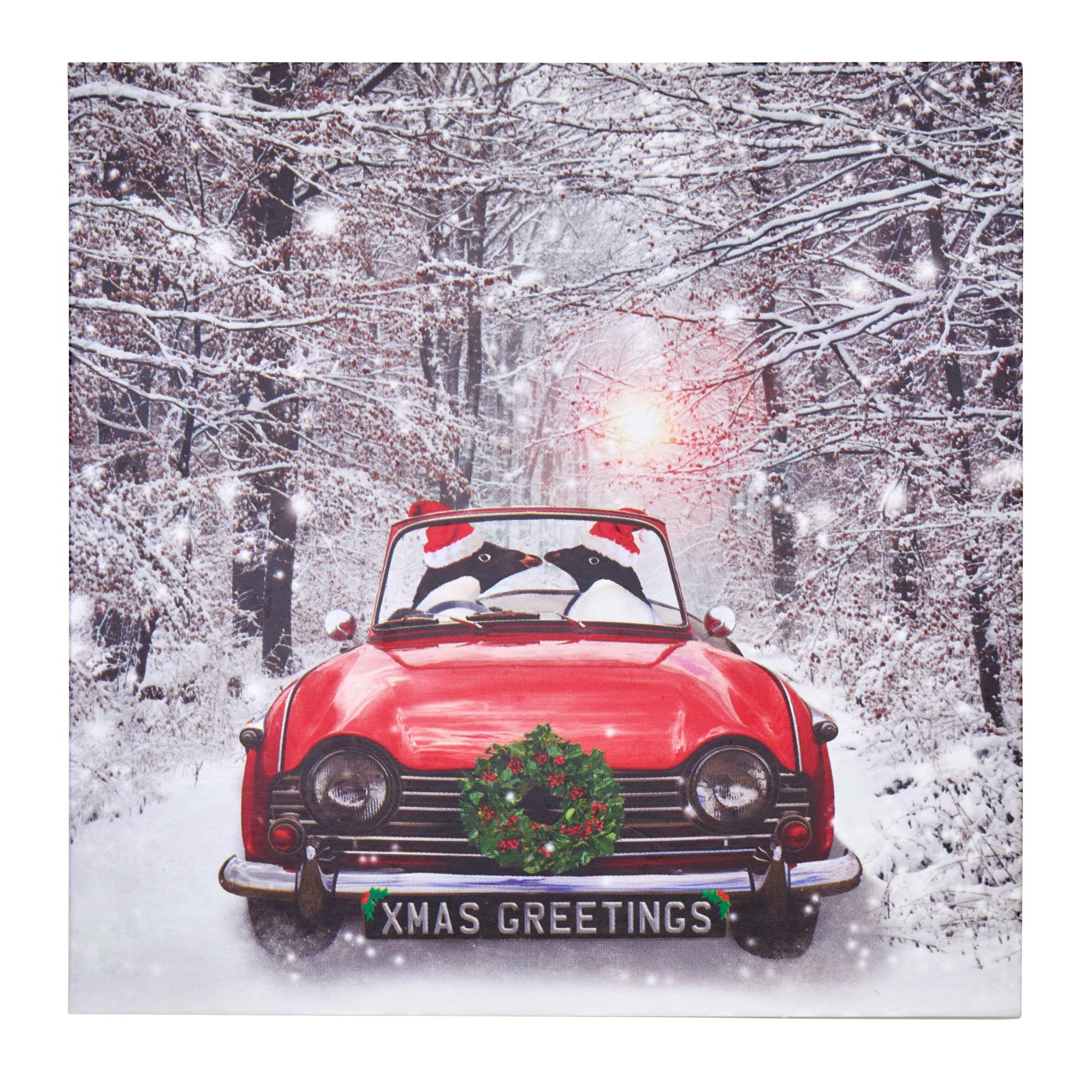 Penguins In Car Christmas Cards Pack Of 20 Cancer Research Uk Online Shop