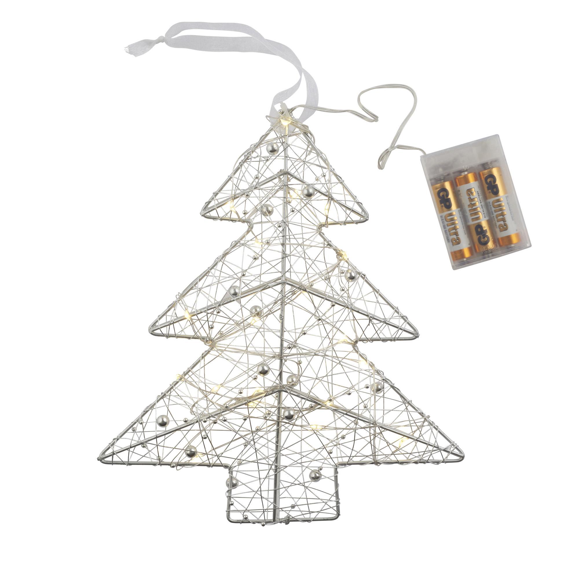 Umbrella Christmas Tree Uk.Silver Led Christmas Tree 3d Light Cancer Research Uk
