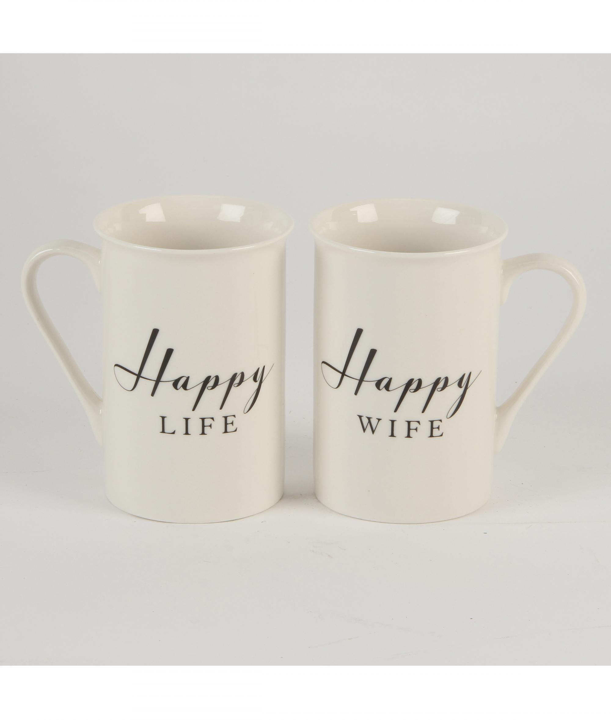 Happy Life And Happy Wife Mugs Cancer Research Uk Online Shop