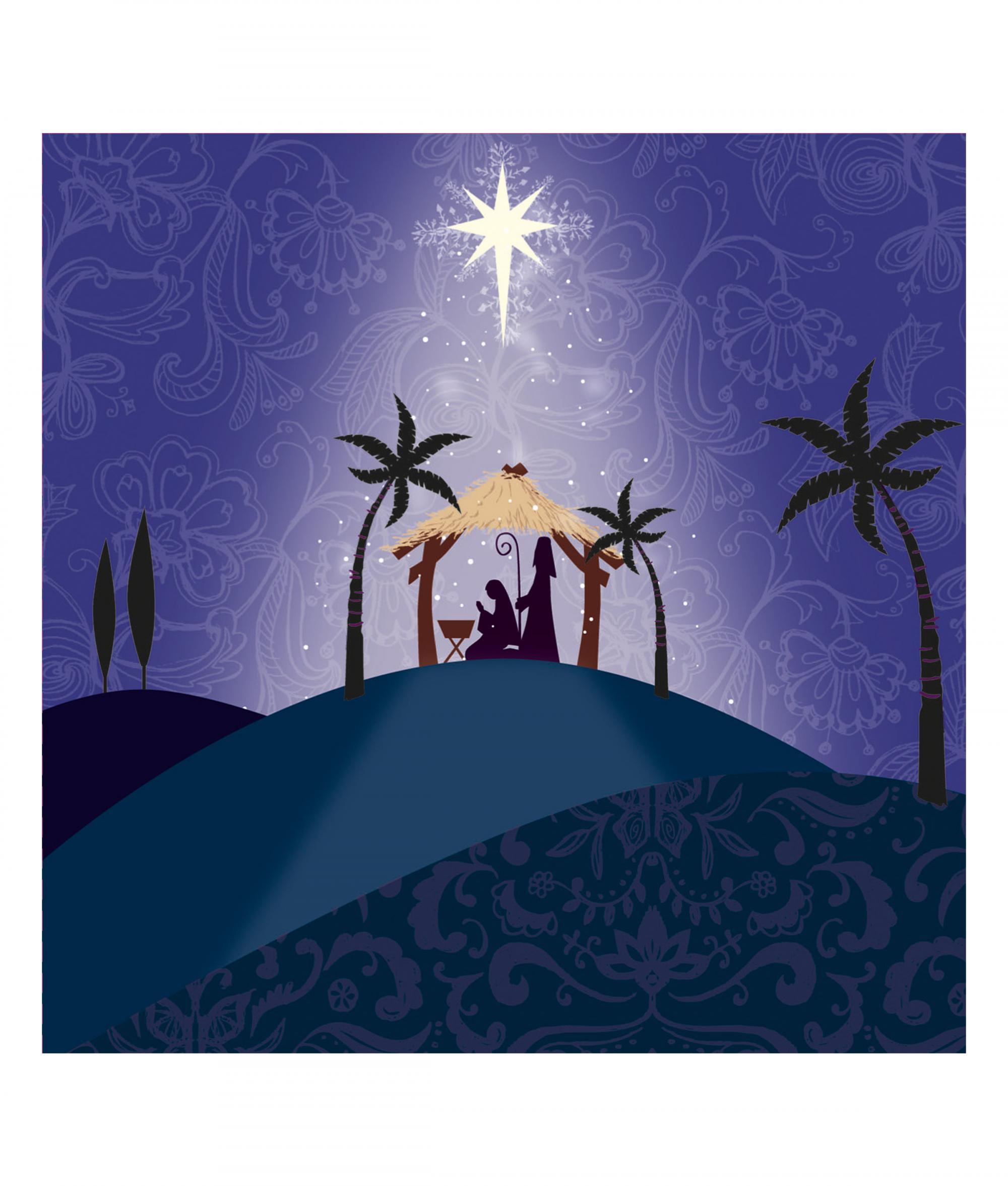 Religious Christmas Cards Uk.Hill Top Nativity Christmas Card Pack Of 10 Cancer