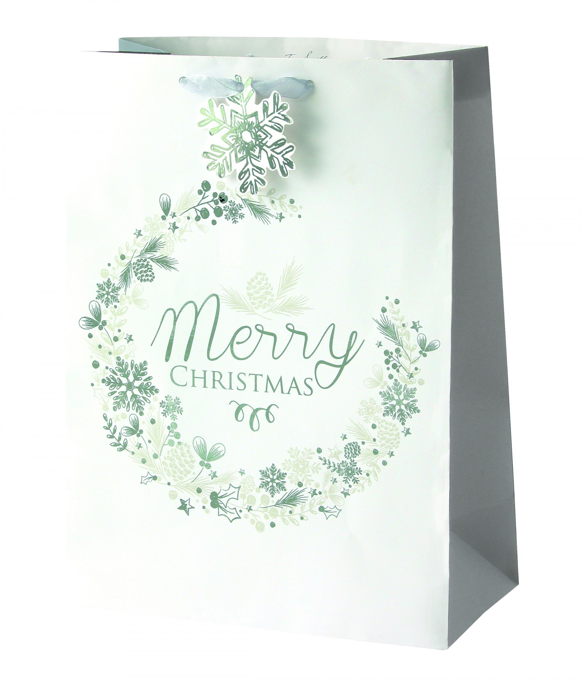 Ice Sparkle Large Christmas Gift Bag | Cancer Research UK Online Shop