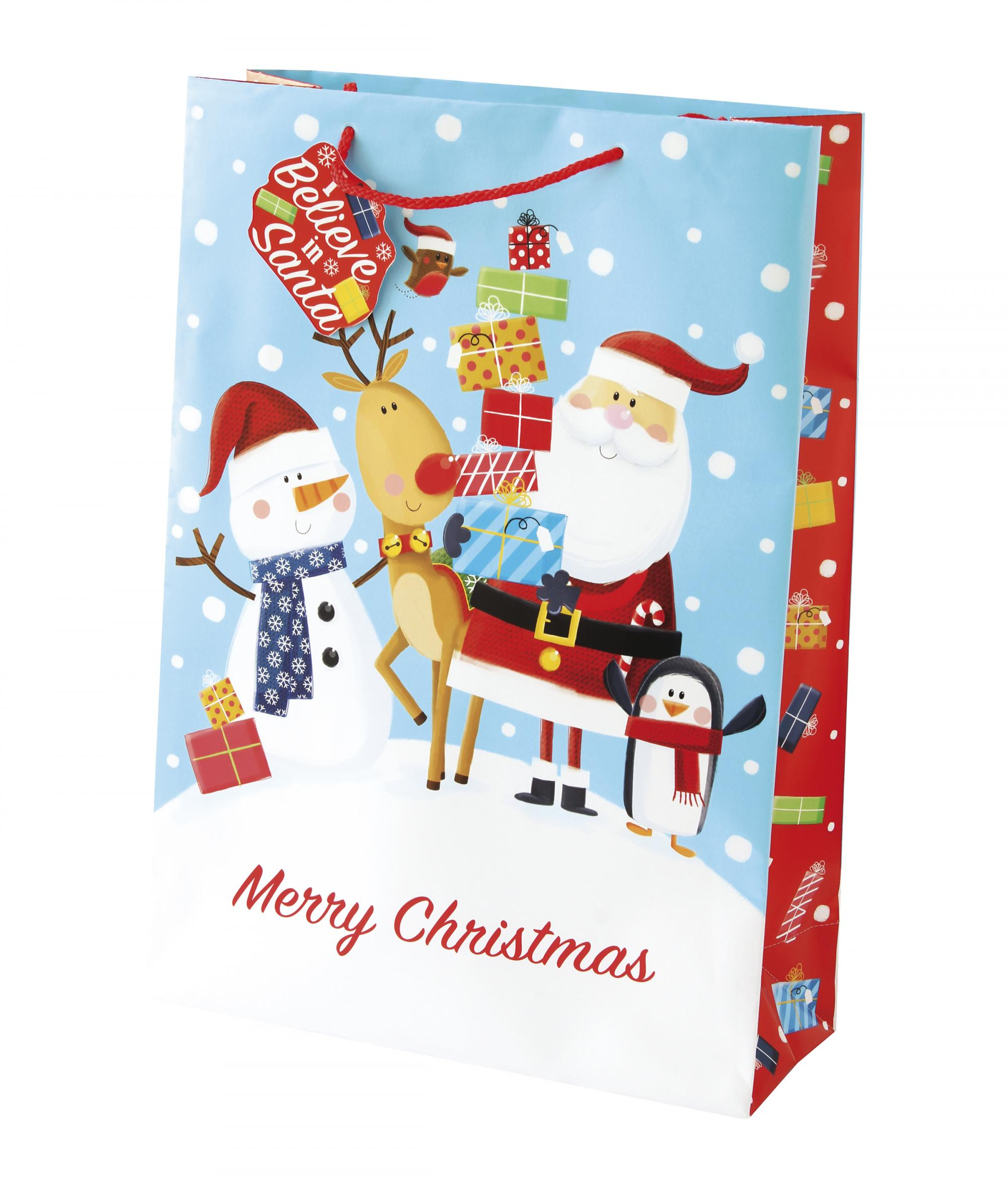 Christmas Gift Bags For Kids.Christmas Fun Kids Extra Large Gift Bag Cancer Research Uk