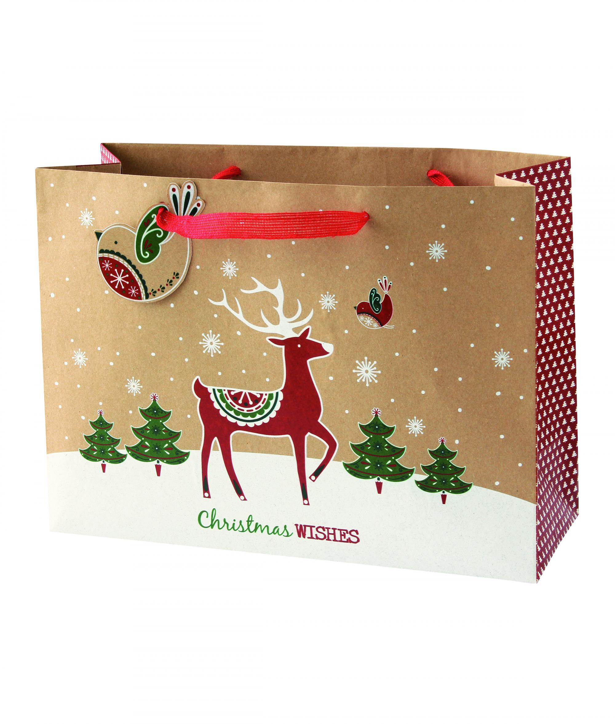Christmas Gift Bags.Kraft Large Christmas Gift Bag Cancer Research Uk Online Shop