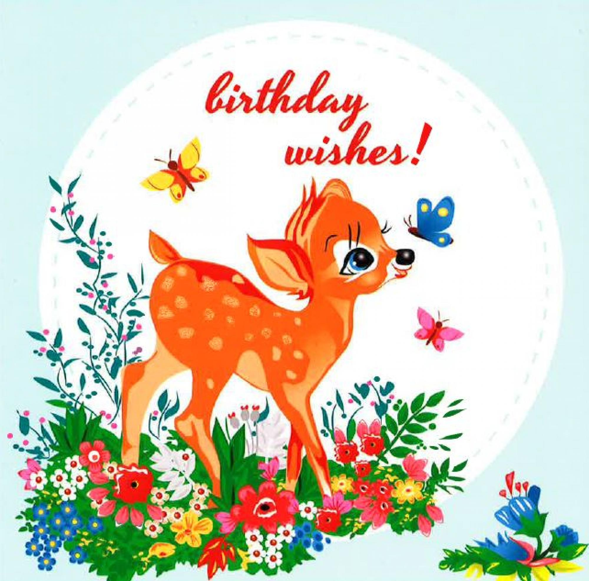 Deer birthday card cancer research uk online shop deer birthday card bookmarktalkfo Image collections