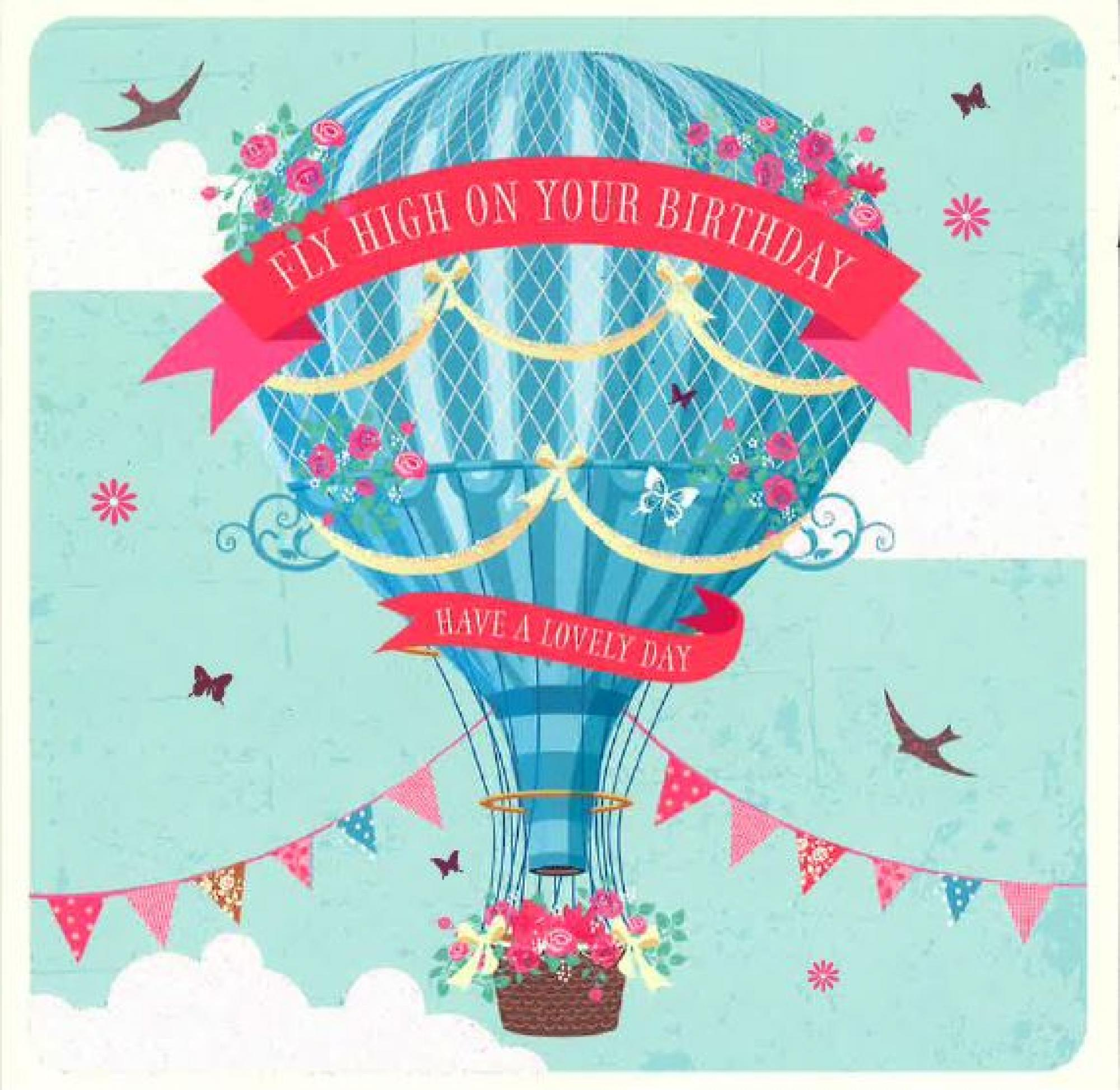 Hot air balloon happy birthday card cancer research uk online shop hot air balloon happy birthday card bookmarktalkfo Image collections