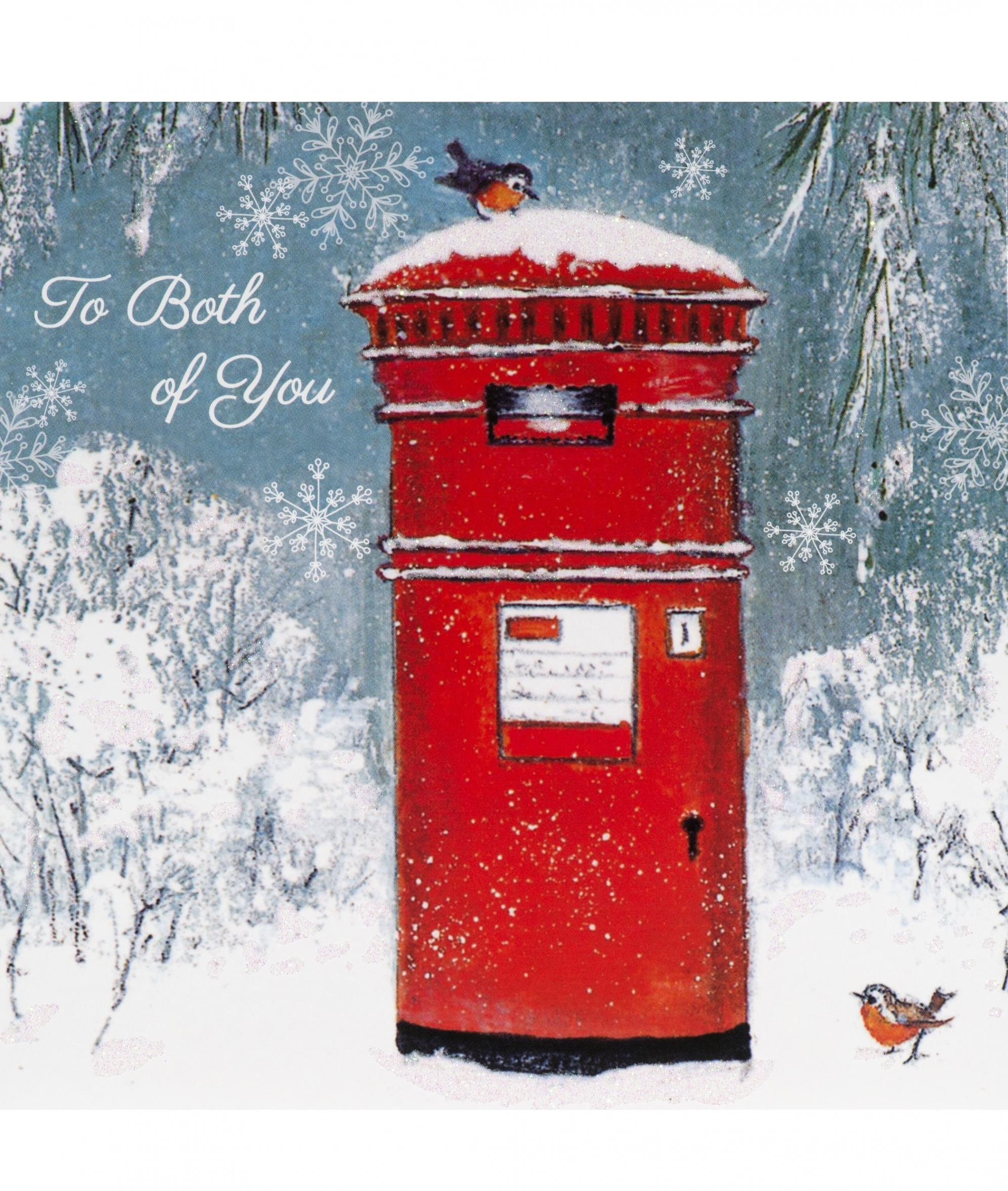 Postbox with Robins (Single Christmas Card)   Cancer Research UK ...