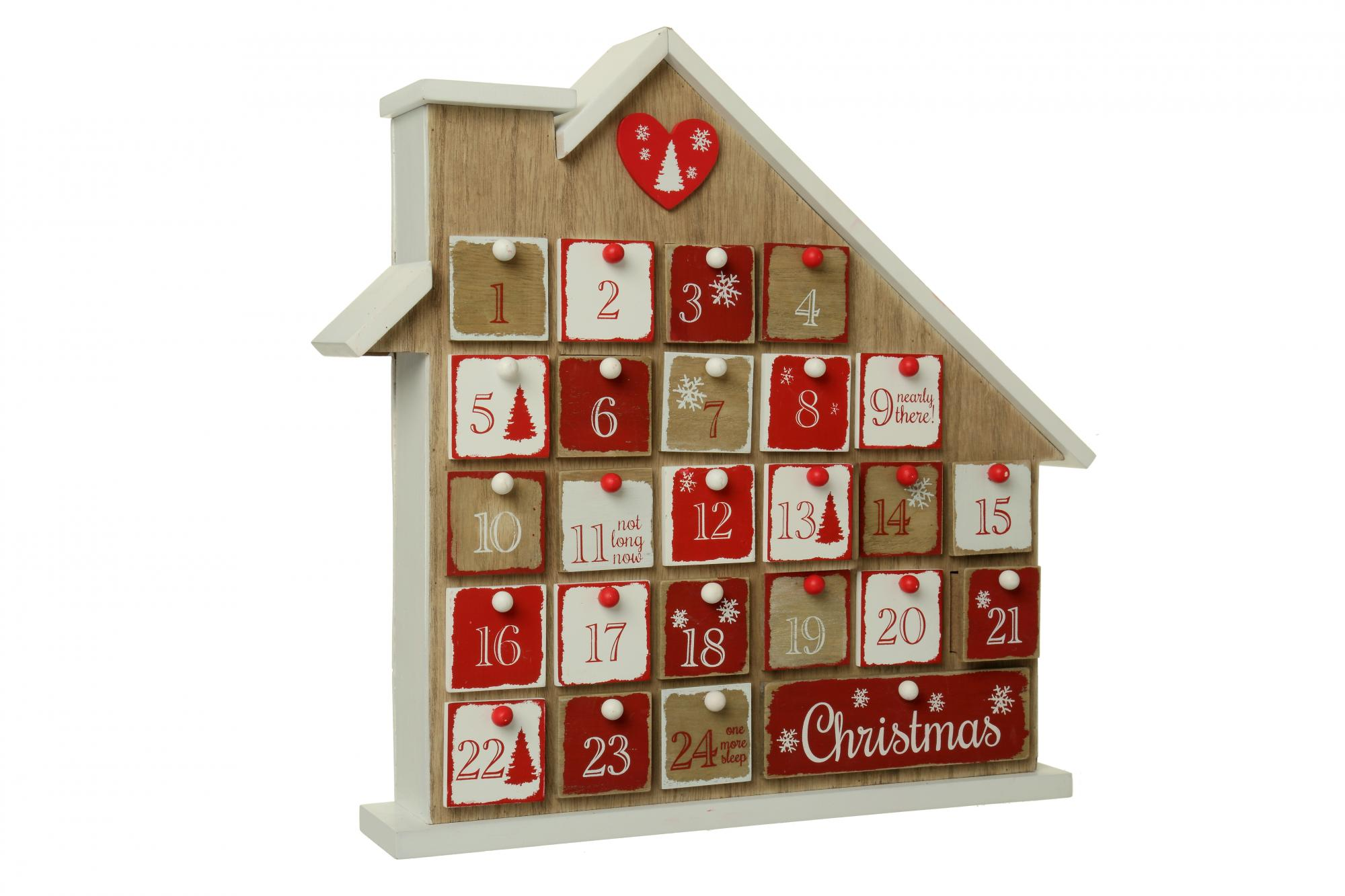 Christmas Advent House.Wooden Christmas Advent House Cancer Research Uk Online Shop