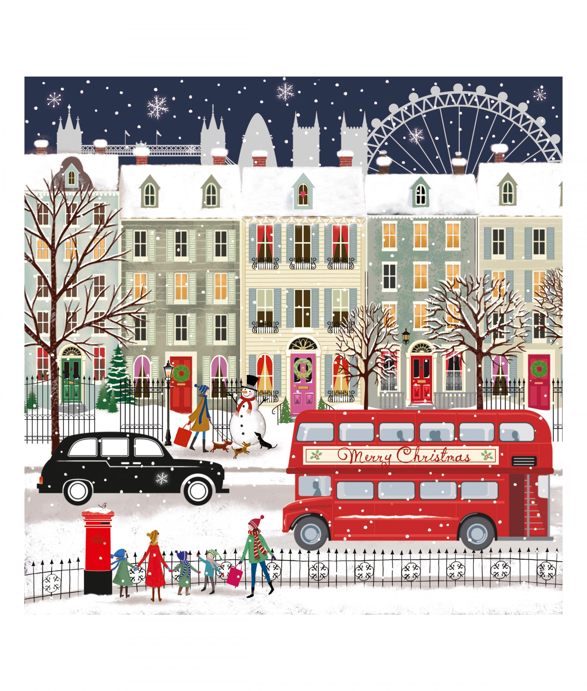 London bus christmas card pack of 10 cancer research uk online shop london bus cancer research uk christmas card m4hsunfo