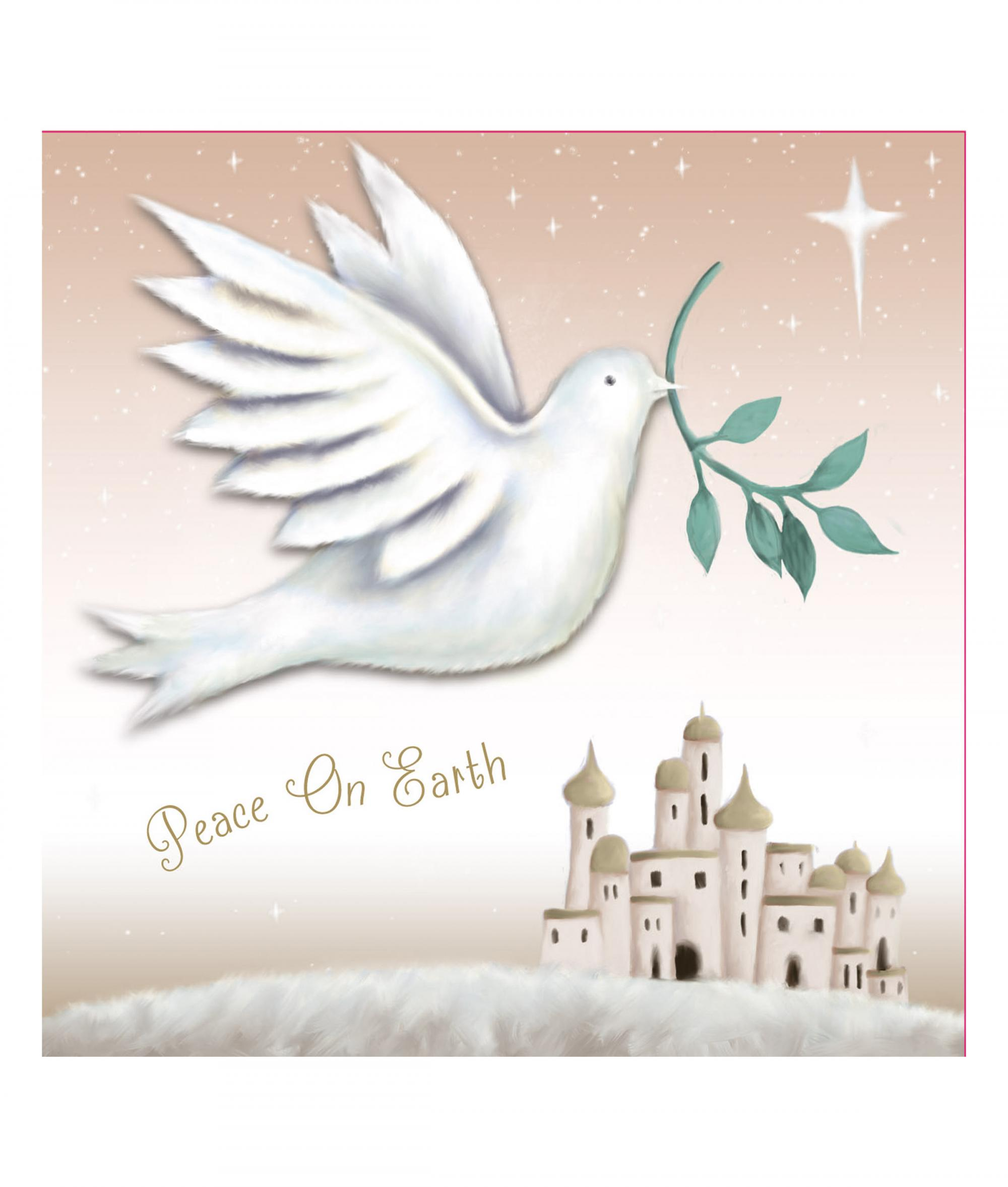 peace on earth cancer research uk christmas card - Peace On Earth Christmas Cards