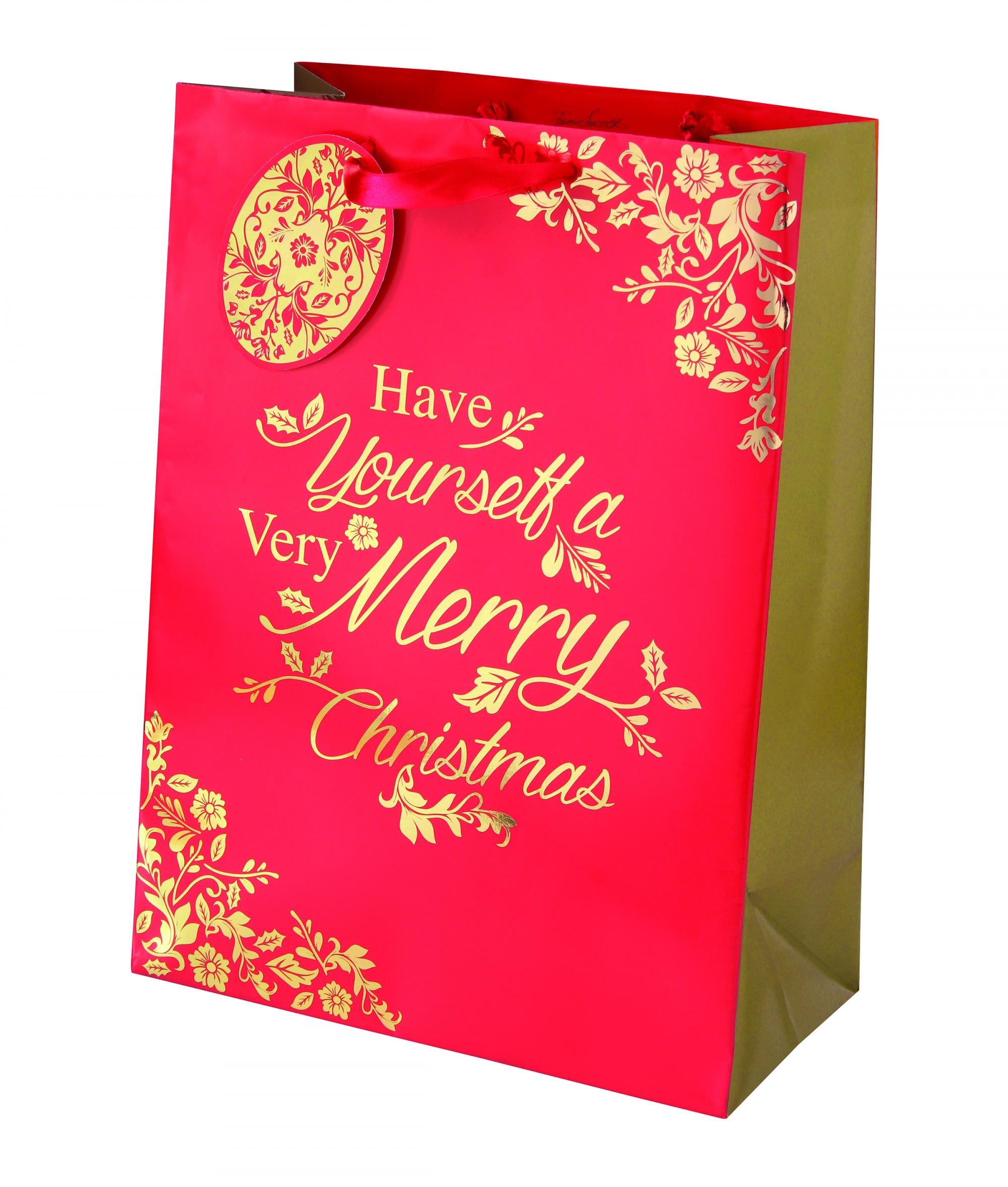 rich traditions large bag cancer reseach uk christmas bag - Large Christmas Gift Bags