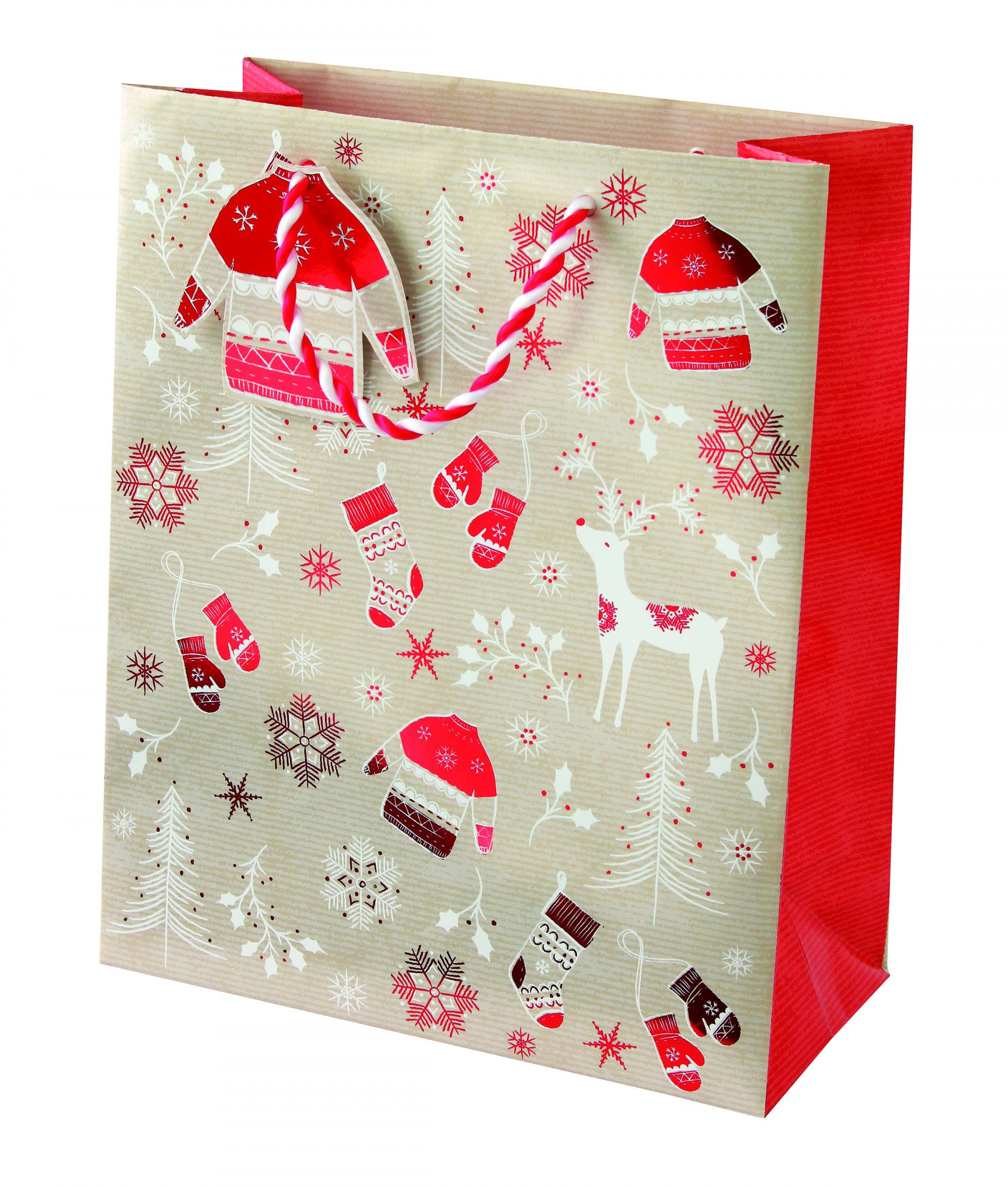 Scandinavian Christmas Medium Gift Bag