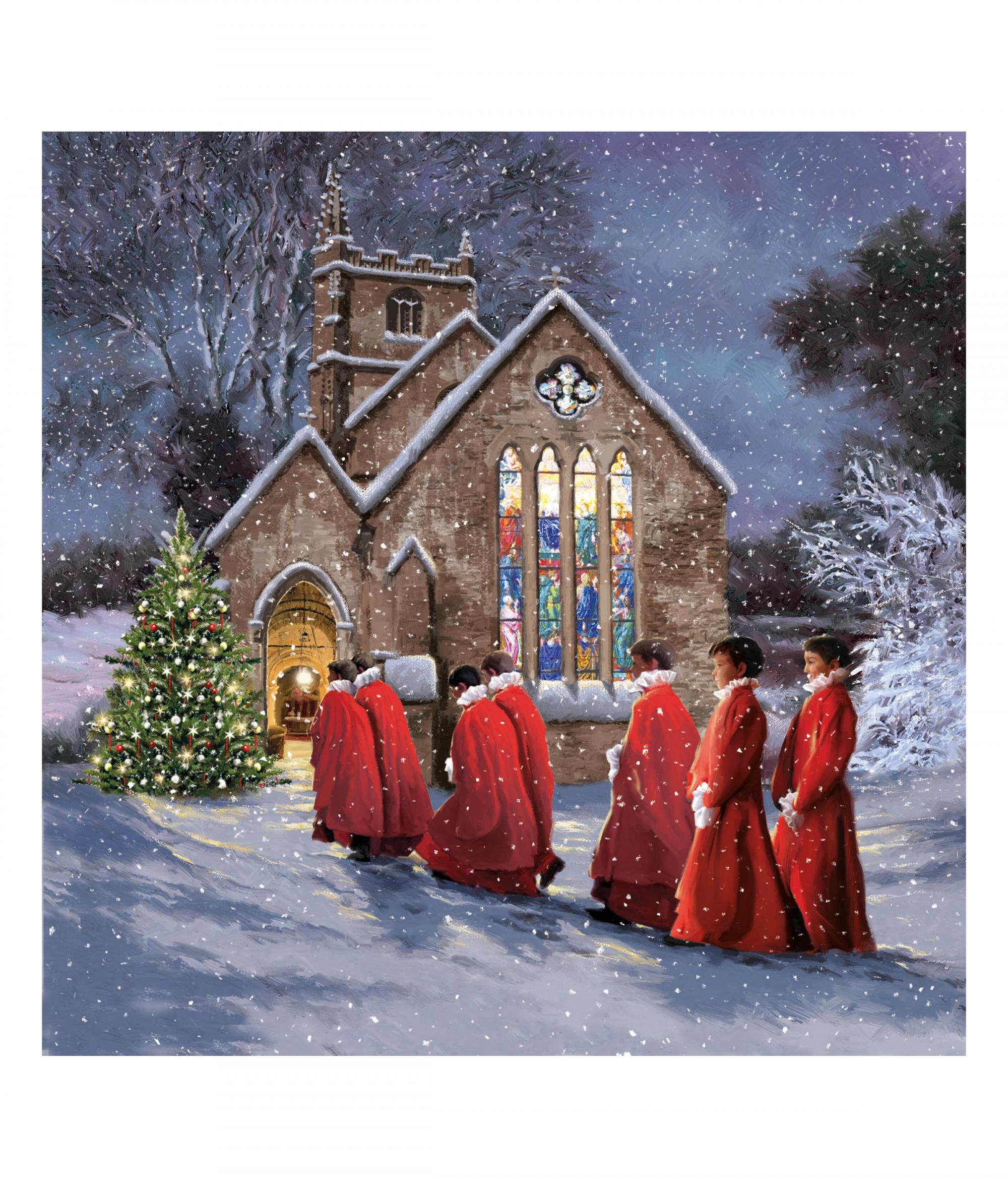 Stunning Choir Christmas Card - Pack of 10 | Cancer Research UK ...