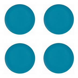 4 Piece Blue Bamboo Dinner Plate Set