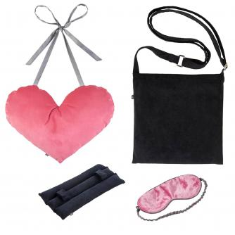 4 Piece Mastectomy Gift Collection in Pink Velvet & Black Corduroy
