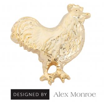 Mr Chicken Pin Badge Designed by Alex Monroe, Cancer Research UK