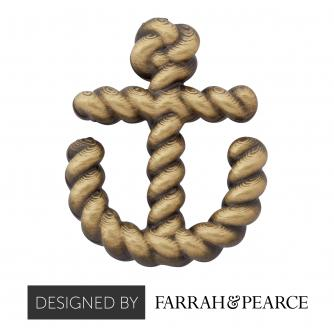 Brass Anchor Pin Badge