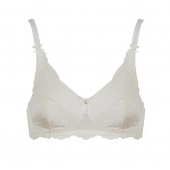 Amoena Aurelie Pocketed Non-Wired Bra in Off-White