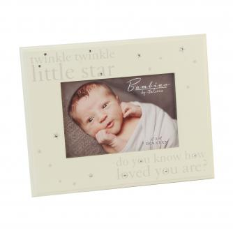 Twinkle Twinkle Frame with Crystals, Baby Gift, Cancer Research UK