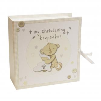 Christening Keepsake Box with Drawers, Baby Gift, Cancer Research UK