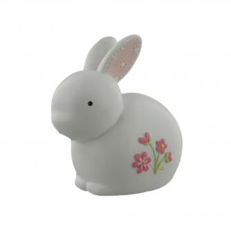 Pink Resin Rabbit Money Bank, Baby Gift, Cancer Research UK