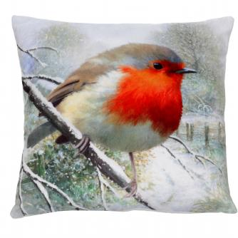robin large cushion cancer research uk christmas gift