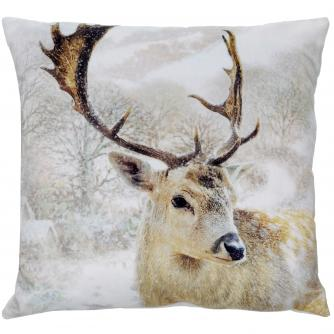 stag large cushion cancer research uk christmas gift