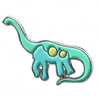 Brachiosaurus Dino Pin Badge