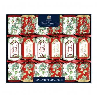 Tom Smith 6 Traditional Foliage Premium Christmas Crackers
