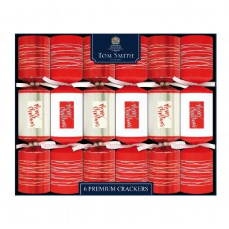 Tom Smith 6 Contemporary Premium Christmas Crackers