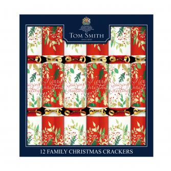 Tom Smith 12 Traditional Family Christmas Crackers