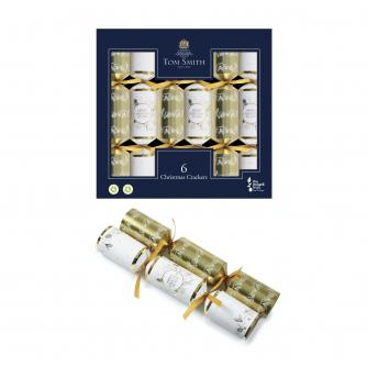 Tom Smith 6 Gold & Cream Christmas Crackers