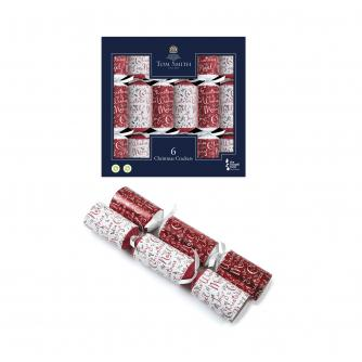 Tom Smith 6 Red & White Christmas Crackers
