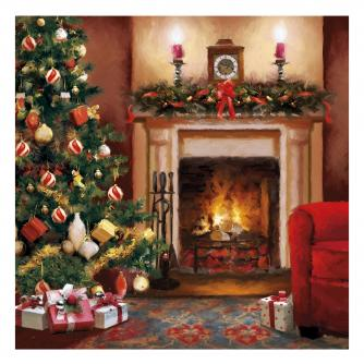 by the fire cancer research uk christmas card