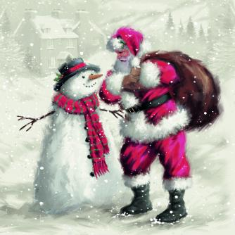 winter friends cancer research uk christmas card