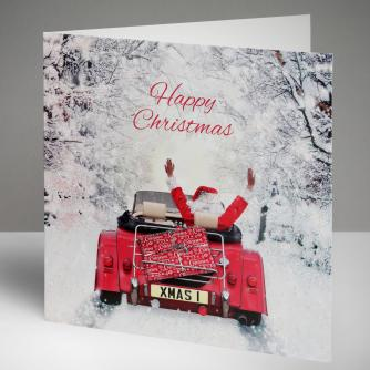 Festive Deliveries Christmas Cards, Pack of 10