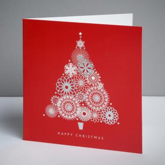 Abstract Tree Christmas Cards, Pack of 10