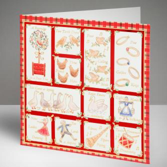 12 Days of Christmas Cards, Pack of 10