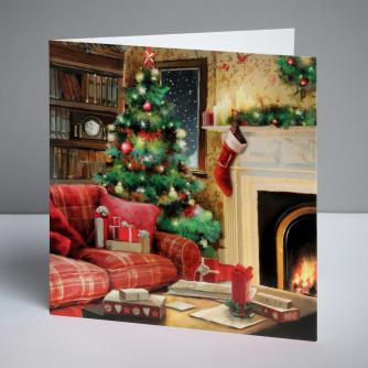 Homely Scene Christmas Cards, Pack of 10