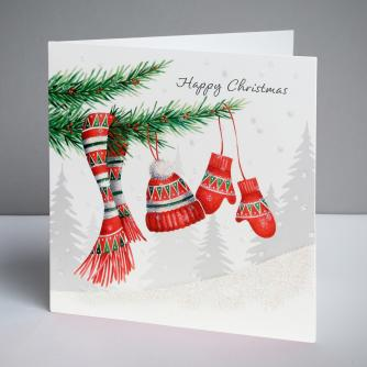 Keeping Warm Christmas Cards, Pack of 10