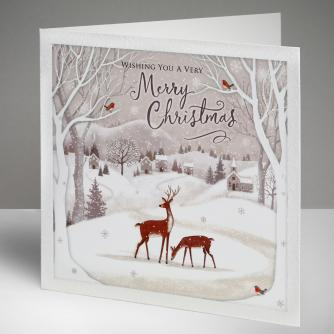 Magical Deer Christmas Cards, Pack of 10