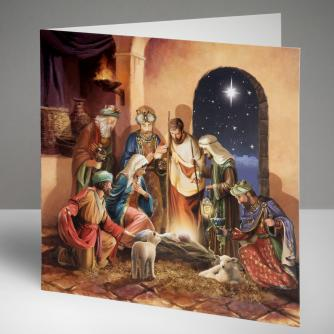 Majestic Nativity Christmas Cards, Pack of 10