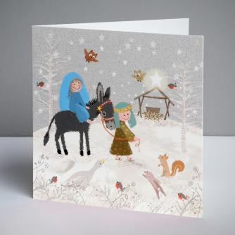 Mary and Joseph Christmas Cards, Pack of 10