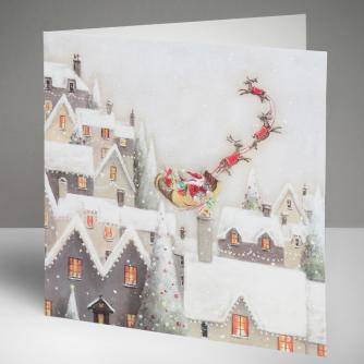Off They Go Christmas Cards, Pack of 10