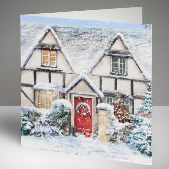 Christmas Cottage Christmas Cards, Pack of 10